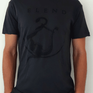 Elend-grey-tee-shirt-black-lyre-front